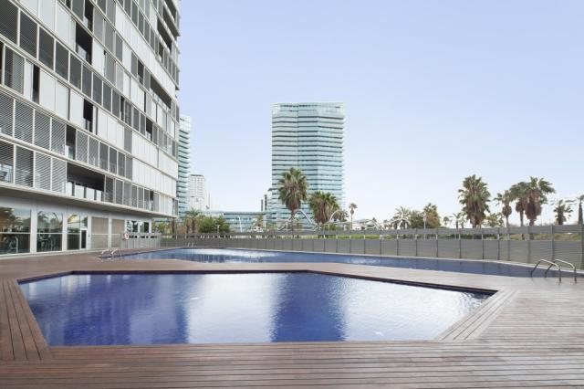 Beachfront Apartment with a Swimming Pool and a Large Terrace – B237
